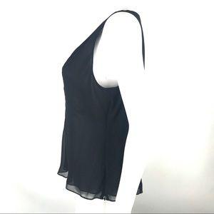 Ann Taylor Tops - Ann Taylor Large Deep V Blouse Top Sleeveless Silk
